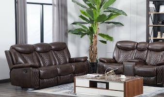 Chenel Brown 3PC Reclining Set
