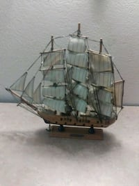 gray and brown galleon ship miniature San Antonio, 78226