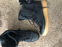 Nike AF1 black leather with official box exclusive  Calgary, T2W 2P4