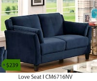 black fabric 2-seat sofa 2261 mi