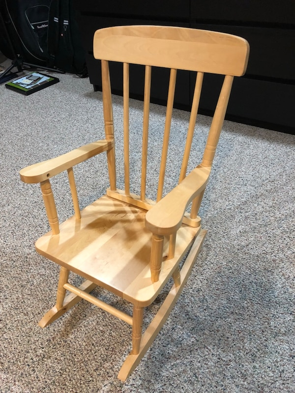 Peachy Brand New Childs Wooden Rocking Chair Lamtechconsult Wood Chair Design Ideas Lamtechconsultcom