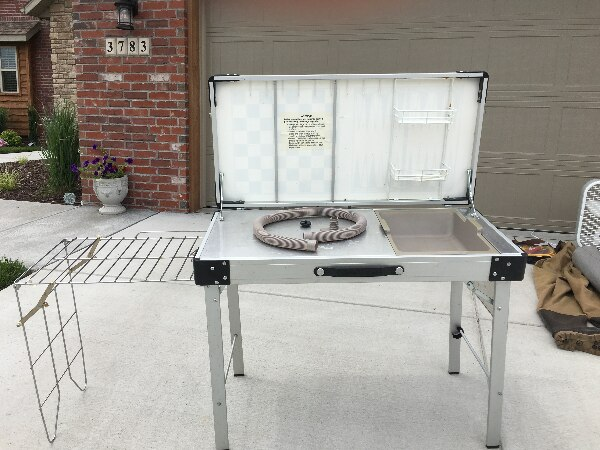 Game/Wash table for camping