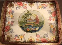 VINTAGE ASIAN ORIENTAL DESIGN IMPORTED TRAY Herndon, 20171
