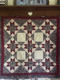 Handmade antiqued wall hanging quilt  Thaxton, 24174