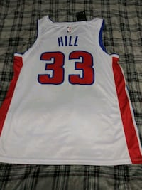 Grant Hill Detriot Pistons jersey Size Large Lincoln, 68521