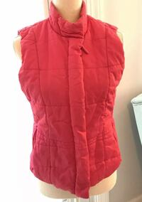 Vineyard Vines Vest Womens Pink Whale Lined  Polyester Fill Size Small Salem, 01970