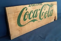 Vintage Coca-Cola Coke Sign Box Case Side Collectible-Wood