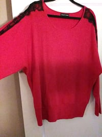 Women's red sweater