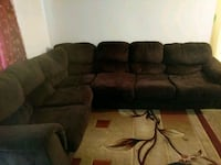brown suede 3-seat recliner sofa Roswell, 30076
