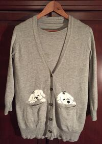 Cute grey sweater and cardigan set Vancouver, V6M 1T5