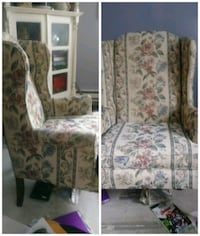 Wing back floral design sofa chair Moline
