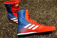 Men's Addidas BoxHog Boxing Shoes   Red/Blue Mississauga, L5M 6R8