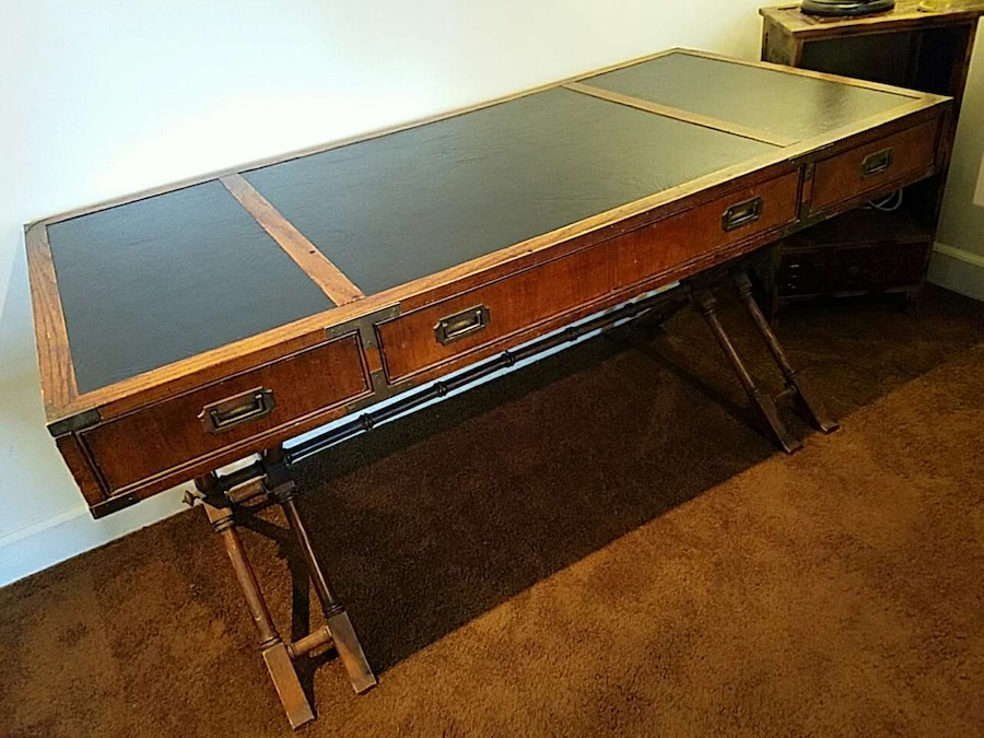Used Brandt Vintage Campaign Desk For Sale In Santa Ana