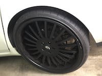 Forgiato andata rims with tires Sunnyvale, 94085