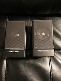 Realistic portable compact speakers with carrying case. Sterling, 20164