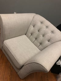 Grey Upholstered Arm Chair!