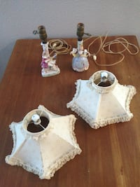 Set of antique figurine table lamps