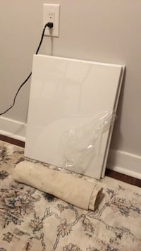 2 blank Canvases - canvas floor mat included