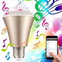 3-in-1 LED bulb- Gold free smart phone dimmable, change color, music