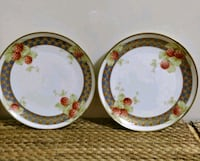 Pair of LIMOGES France handpainted plates Whitby