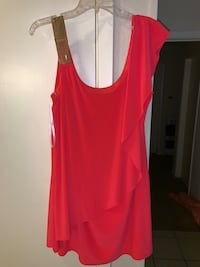 Sz 14 - Coral w/gold accent dress Katy, 77450