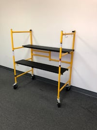 "New $70 Mini Folding Steel Scaffold Step Ladder - 500lbs Capacity 46""x39""x22"" South El Monte"