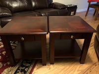Solid wood end tables Charlotte, 28217