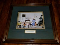 brown wooden framed painting of house Durham, 27704