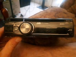 JVC MP3/CD car audio player.