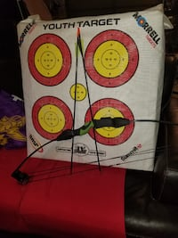 Youth Compound Bow and Youth Archery Target