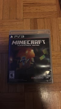 Sony PS3 Minecraft game case Mississauga, L5B 1E8