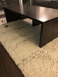 Brown Wood Coffee Table w/ 2 Matching Benches Chicago, 60654