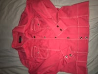 women's red button-up shirt North Vancouver, V7K 2H4