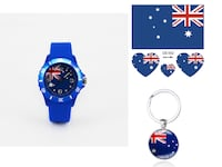 Australia World Cup Football Soccer Flag watch, Keychain, 5 Skin Stickers Lafayette