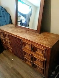 brown wooden dresser with mirror Peterborough, K9H 2J7