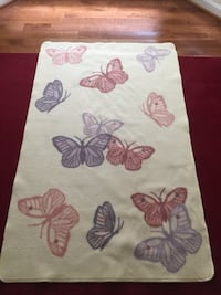 White and purple floral area rug Virginia Beach, 23455