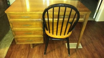 Antique desk use to be old sewing machine