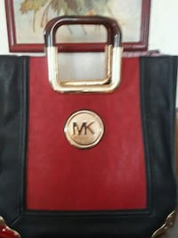 red and black Michael Kors leather tote bag North Charleston, 29405
