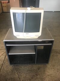 gray CRT TV with black wooden TV stand Warrenville, 29851