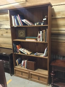 Large Primitive Shelf with Two Drawers