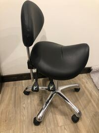 Adjustable Saddle Chair - black
