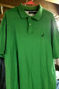 Nautica green mens polo shirt Dundalk, 21222