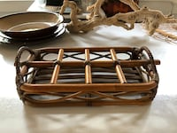 Vintage rattan and bamboo bottle or can serving tray North Charleston, 29405