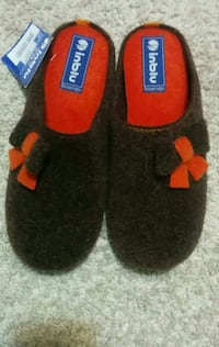 black-and-red inbl home slippers