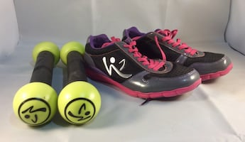 Zumba Shoes Size 6 and weights
