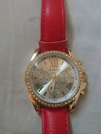 Ashley Quartz watch with red leat Silver Spring, 20903