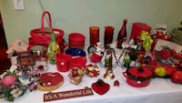 red and black glass candle holders Toms River, 08753
