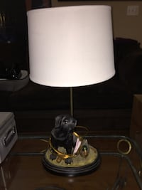 Black and white table lamp Damascus, 20872