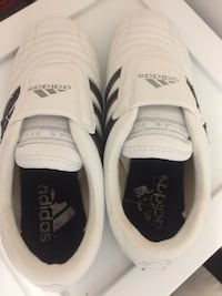 Pair of white-and-black adidas sneakers.size 5.5 Richmond Hill, L4C 4L6