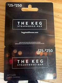 Keg gift card $100 value